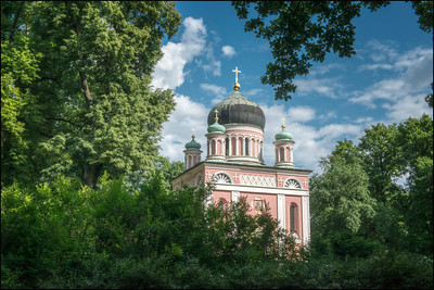 Russian Orthodox Church of Saint Alexander Nevsky, Potsdam, Germany.