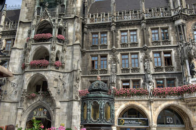 HDR: Detail of Rathaus, Munich, Germany.