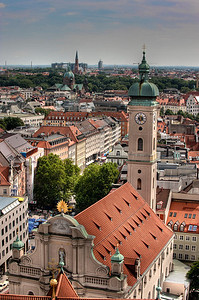 HDR: Munich, Germany cityscape.