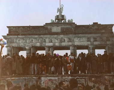 The Berlin Wall at the Brandenburg Gate, December 31, 1989.