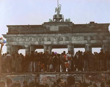 The Berlin Wall at the Brandenburg Gate, December 31, 1989.