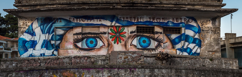 Graffiti on Lesvos Greece.