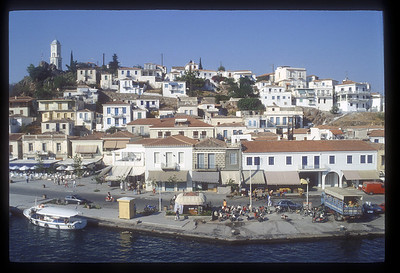 Greek Island harbor.