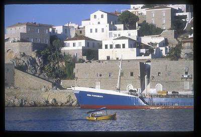 Waterfront, Hydra, Greek Islands.