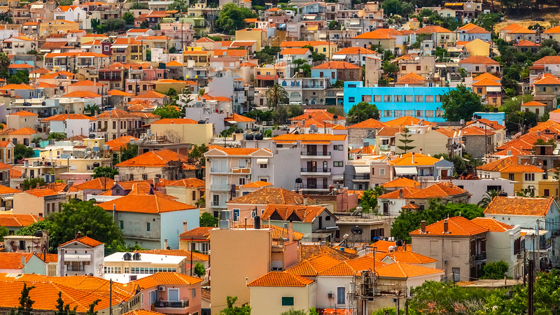 Houses on the Island of Lesvos.