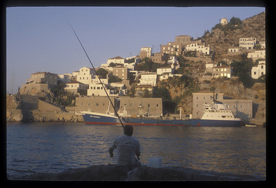 Fisherman on Hydra, Greek Isles.