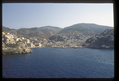 Harbor, Hydra, Greek Islands.