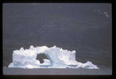 Iceberg as floating art on Disko Bay, Greenland