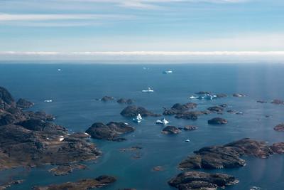 The view leaving the coast near Tasiilaq, east Greenland.