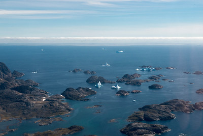 The view leaving the coast near Tasiilaq, east Greenland.