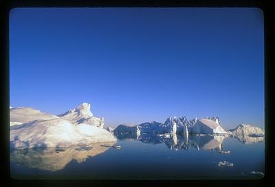 Icebergs at Disko Bay, Greenland.