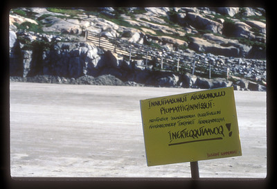 And we mean it! Sign at Iliminaq, Greenland.
