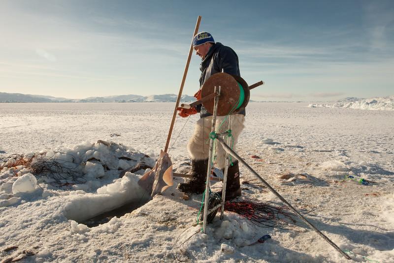 Inuit fisherman