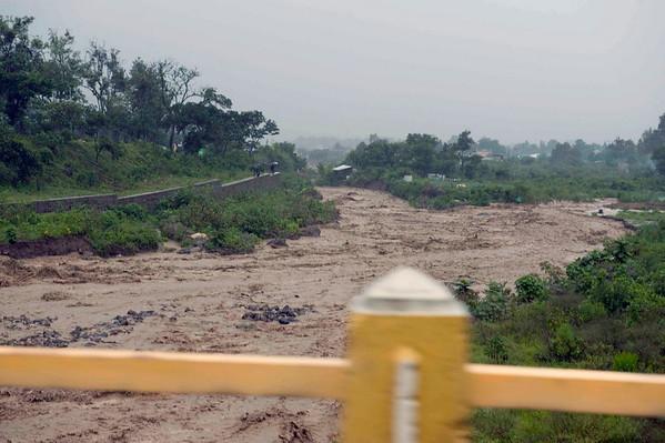 River at Panajachel, Guatemala during tropical storm Agatha, May, 2010.