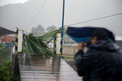 Tropical storm Agatha, Panajachel, Guatemala, May, 2010.