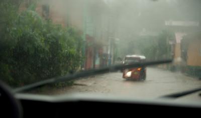 Panajachel, Guatemala during tropical storm Agatha, May, 2010.