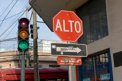 Do you Alto or go on green? Guatemala City, Guatemala.