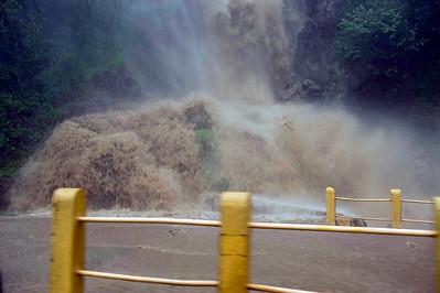 Bridge soon to be out, tropical storm Agatha, Guatemala, May, 2010.