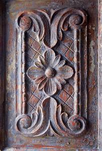 Detail of item at antique shop, Antigua, Guatemala.