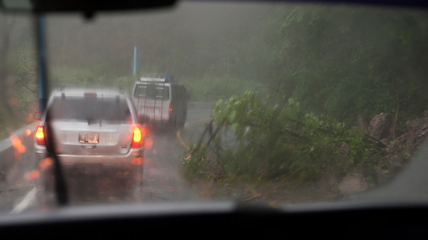 Mud slides while fleeing tropical storm Agatha, Guatemala, May, 2010.