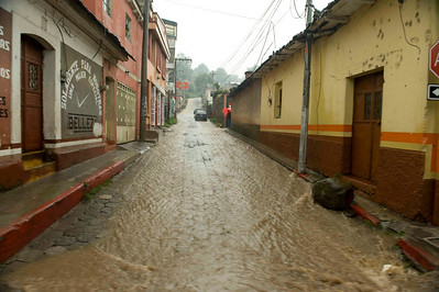 Flooding after tropical storm Agatha, Solola, Guatemala, May, 2010.