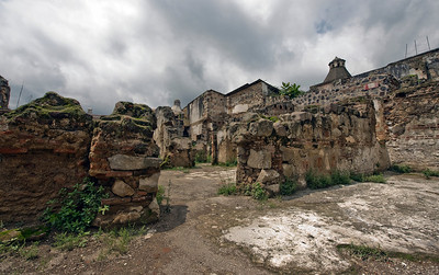 Ruins at Cathedral of San Jose, Antigua, Guatemala.