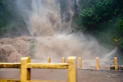 Bridge later washed away by tropical storm Agatha, Guatemala, May, 2010.