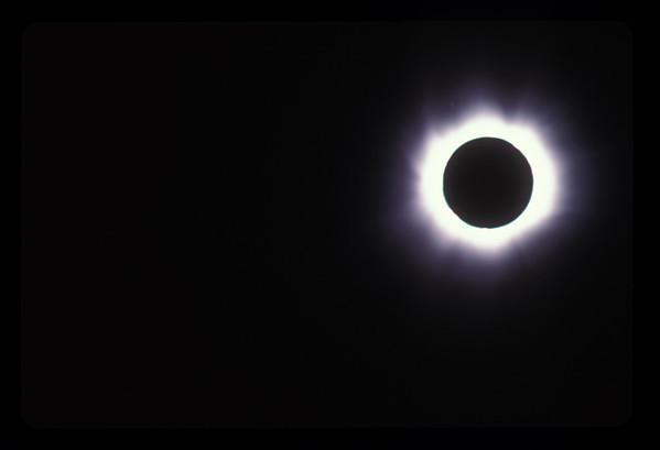 Total solar eclipse, 11 August, 1999, at Lake Balaton, Hungary.