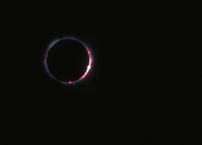 Total solar eclipse, 11 August, 1999, at Lake Balaton, Hungary.
