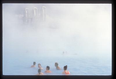 The Blue Lagoon thermal bath between Reykjavik & Keflavik, Iceland.