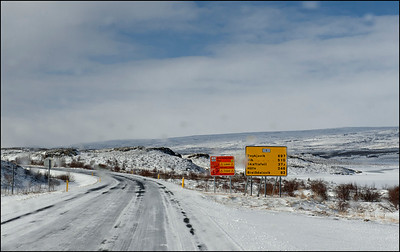 Road signs, rural Iceland