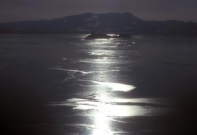 Frozen lake, Iceland.
