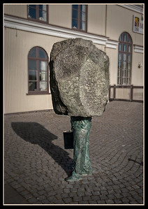Statue to the Unknown Bureaucrat by Magnus Tomasson, Reykjavik, Iceland