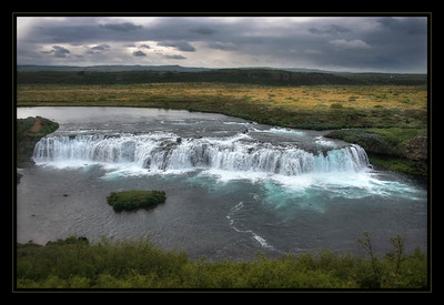 The Faxi Waterfall, Iceland.