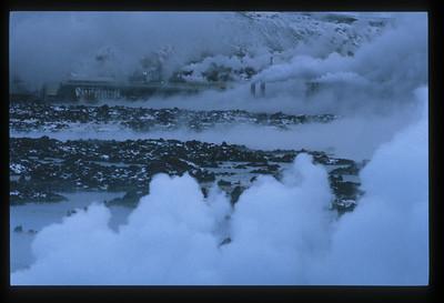 Geo-thermal plant between Reykjavik and Keflavik, Iceland.