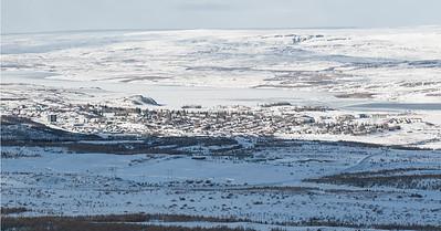 The town of Egilsstadir, in east Iceland.