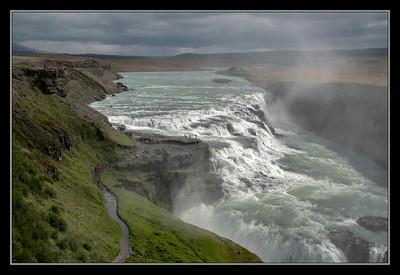 Gullfoss, or Gold Falls, Iceland.