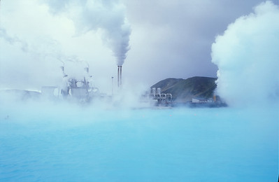 The Blue Lagoon power station between Keflavik & Reykjavik, Iceland.