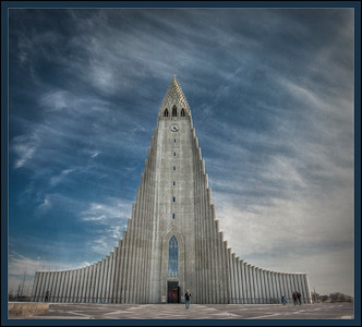 The Fearsome Hallgrim's Church, Reykjavik, Iceland.