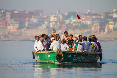 Commuting to work on the Ganges