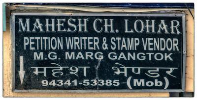 Petition Writers Got to Advertise, Too. Gangtok, Sikkim, India.