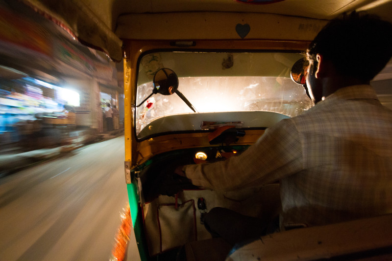 Speeding Through The Night Streets Of Varanasi