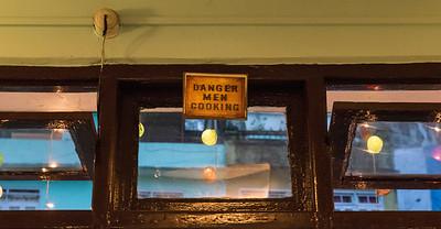 Sign in Gangtok, Sikkim, India.