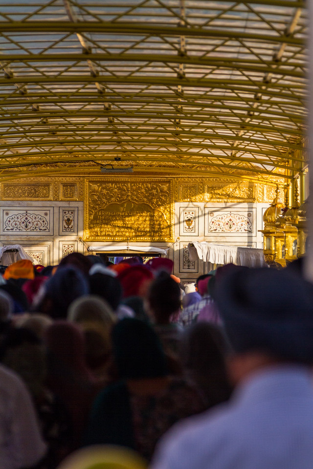 people waiting in line at the Golden Temple - India - Punjab - Amritsar