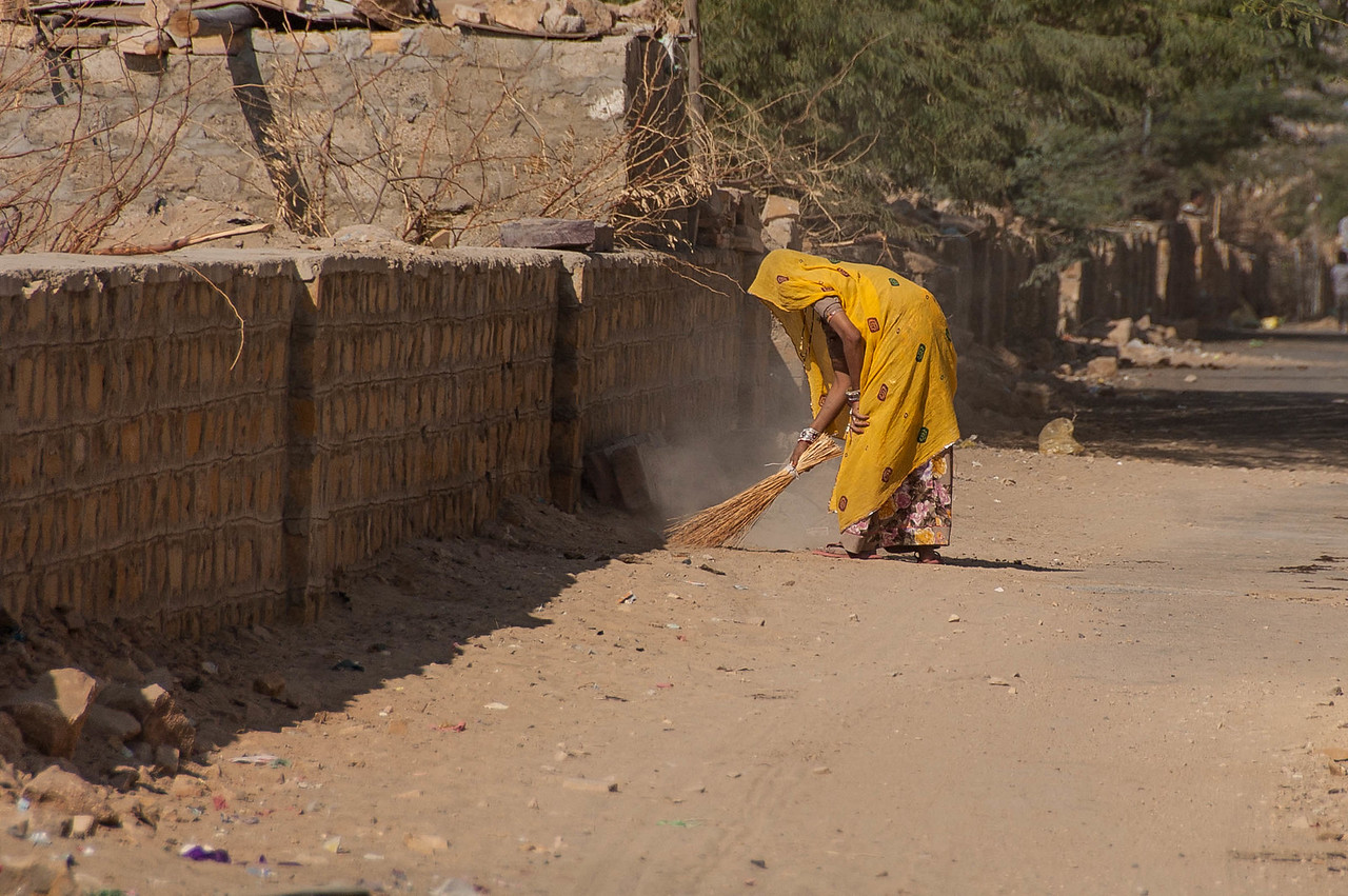 Baber Magar streets. Are swept every morning....