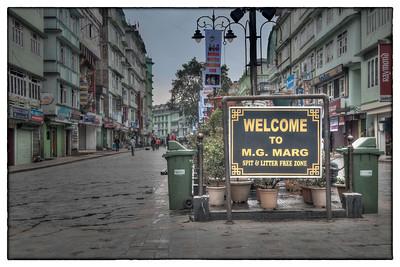 M. G. Marg is the main pedestrian street in Gangtok capital of Sikkim, India.