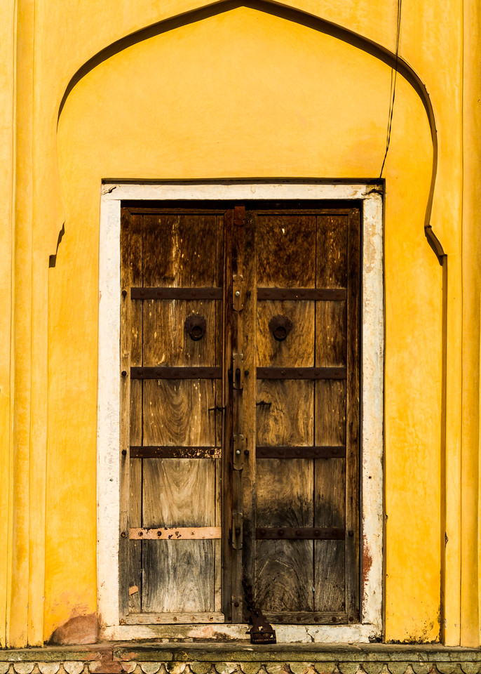 Close-up of old wooden door - Asia - India