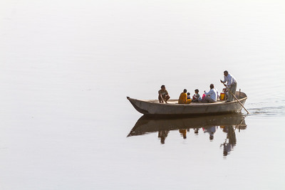 People travelling in boat - India