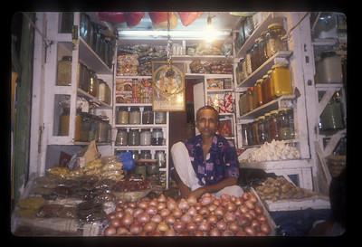 Market stall, Kolkata, India.