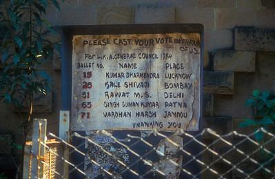 Political campaign ad, Mumbai, India.